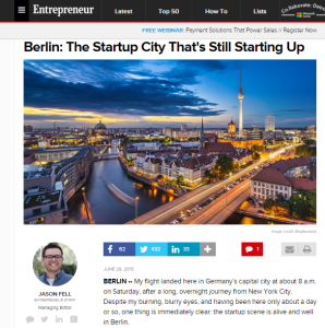 Berlin the cit which is still a startup